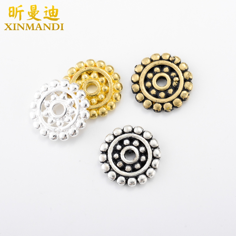 Xin mandy-diameter 14mm tibetan silver/brass gear spacer spacer xingyue 108 bodhi man playing accessories