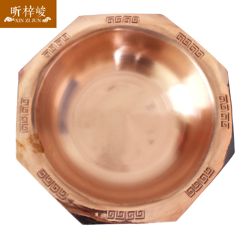 Xin zi finishing stereoscopic fret vintage copper pot copper pot pure purple copper pot boiler electric magnetic furnace dedicated Pot thicker type