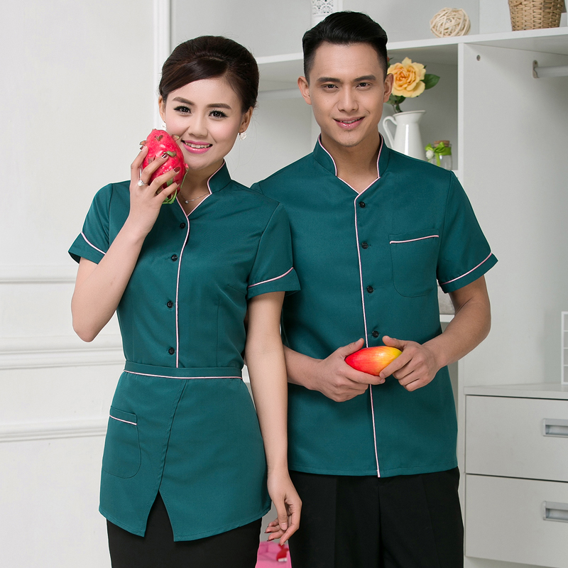 Xing jie yi hotel overalls summer dining restaurant fast food restaurant uniforms hotel restaurant waiter overalls overalls