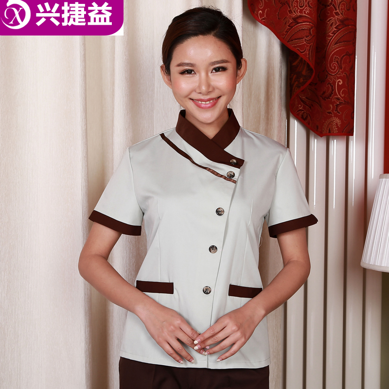 Xing jie yi hotel uniforms summer female hotel room cleaning staff uniforms hotel floor cleaning staff clothing