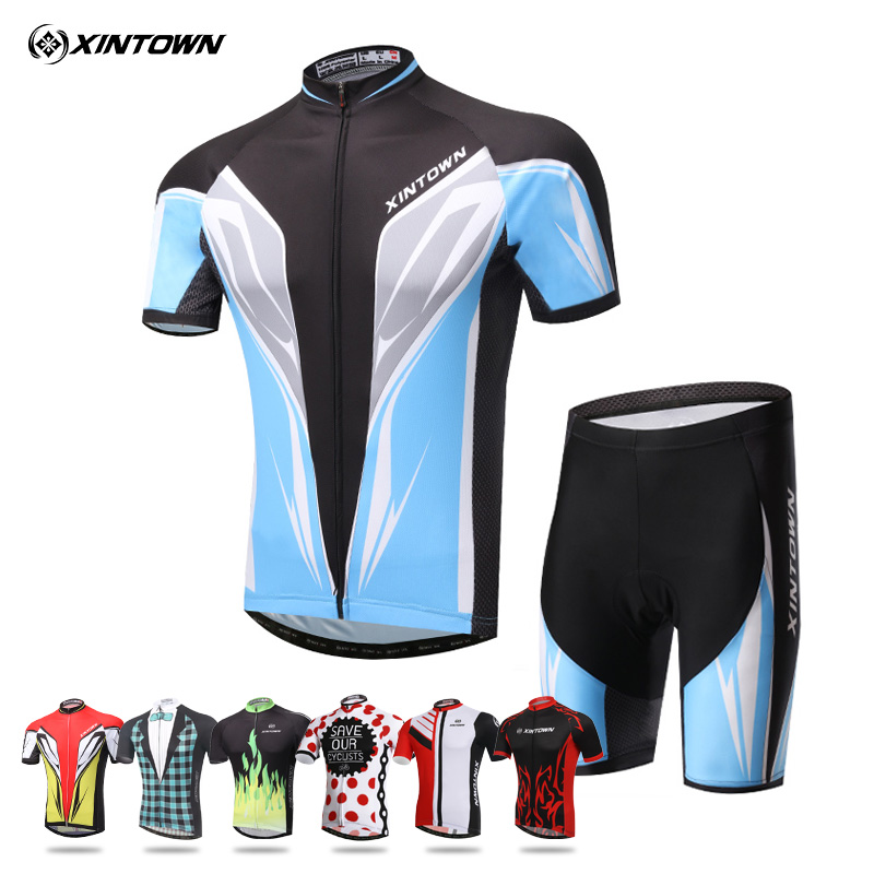 Xintown summer mountain bike cycling short sleeve suits for men and women at the banquet banquet suit riding pants shorts