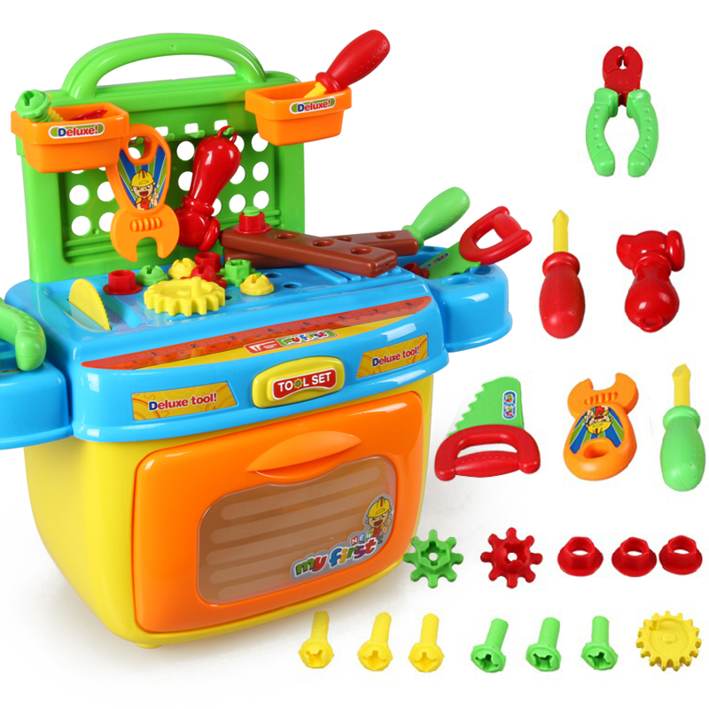 Xiongcheng child's play kitchen toys versatile removable toolbox players play house children's toys suit