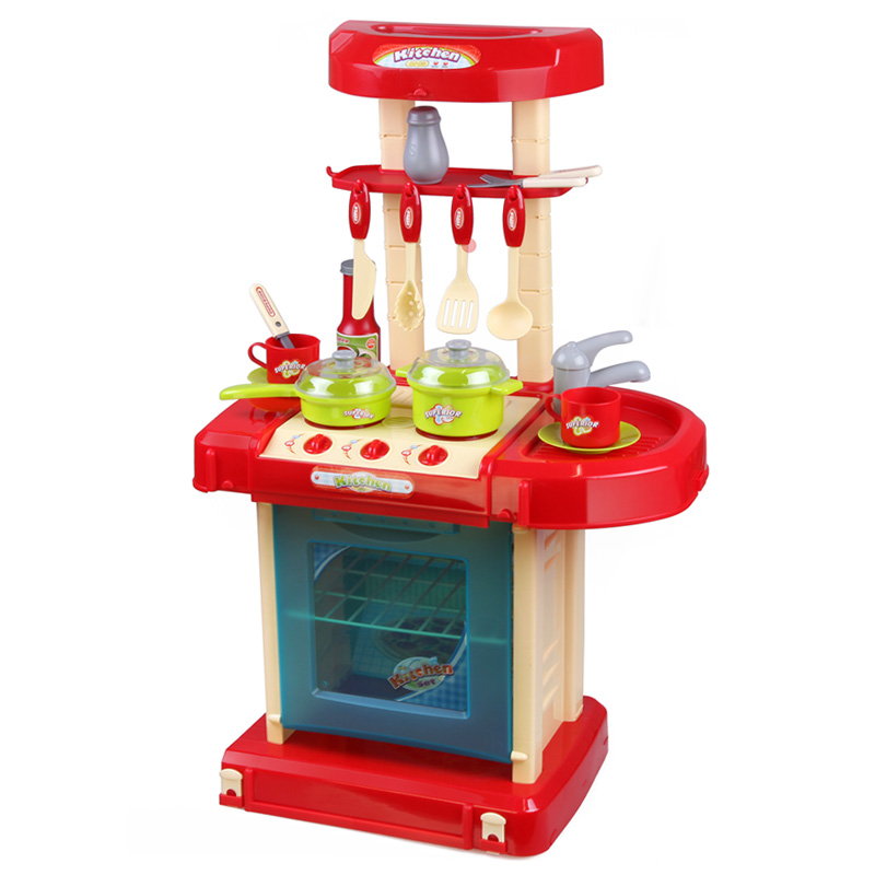 Xiongcheng child's play playing with toy with light and music play house kitchen cooking kitchen utensils