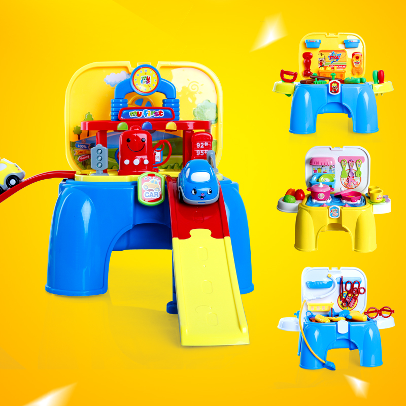 Xiongcheng play house children's toys for boys and girls thanmonolingualsat kitchen doctor toolbox disassembly game chair suit
