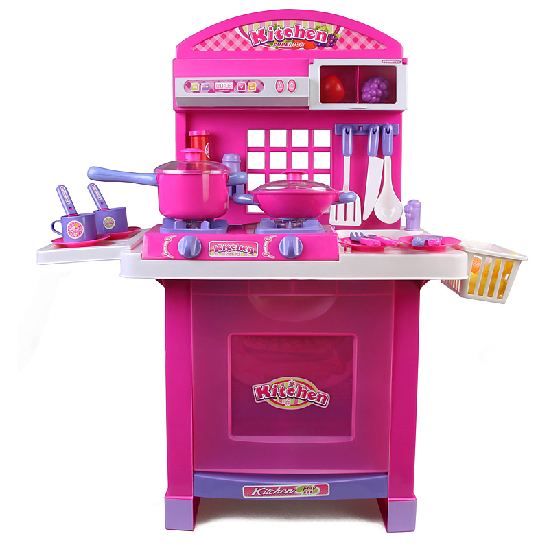Xiongcheng versatile kitchen combination of 110 children's play kitchen toys simulation tableware kitchen toys for children