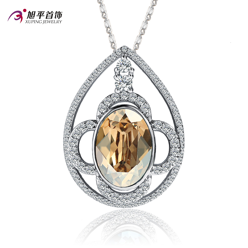 Xuping artificial crystal necklace accessories japan and south korea south korean fashion necklace female gold plated jewelry gift recommendation