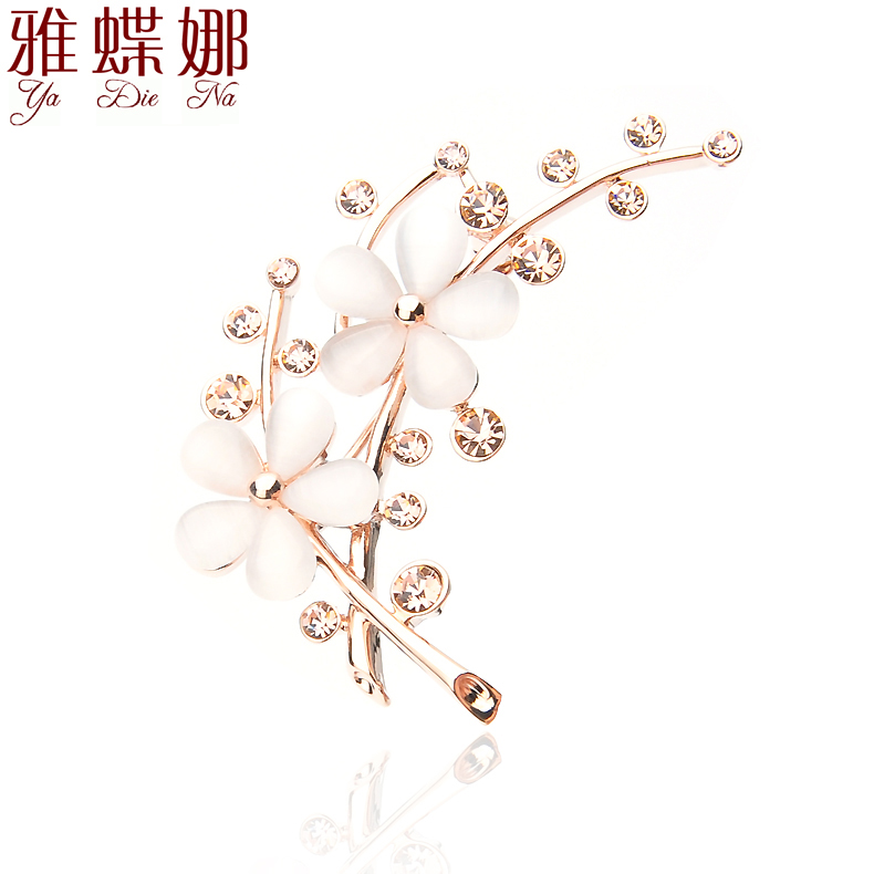 Ya na butterfly brooch crystal brooch korean version of don't fit'suit sweater diamond crystal brooch buckle shawl collar pin brooch accessories
