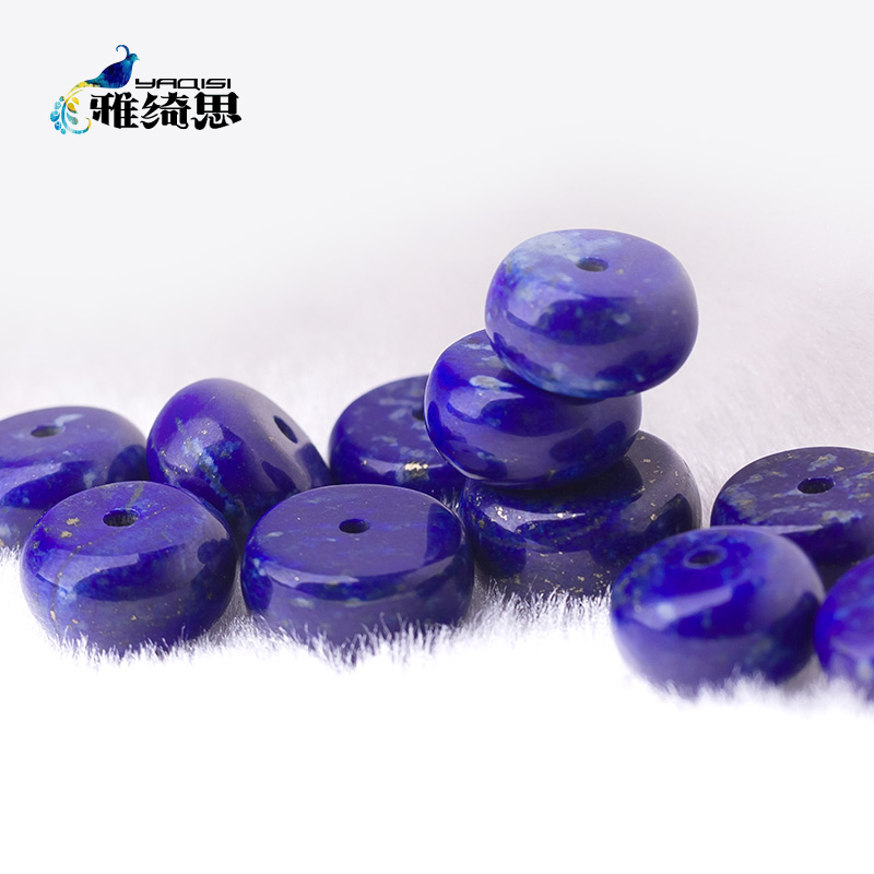 Ya qi si natural afghan lapis lazuli 5a abacus beads spacer spacer beads loose beads diy handmade hand chain sweater chain