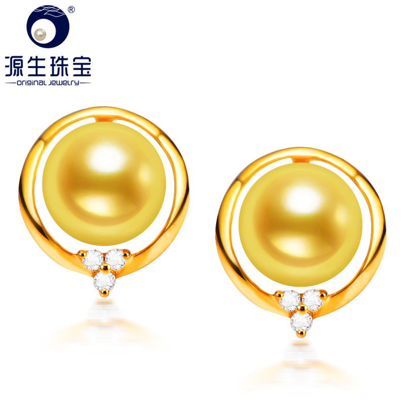 Ya tong primal akoya sea pearl earrings k gold earrings jewelry earrings perfect circle glare