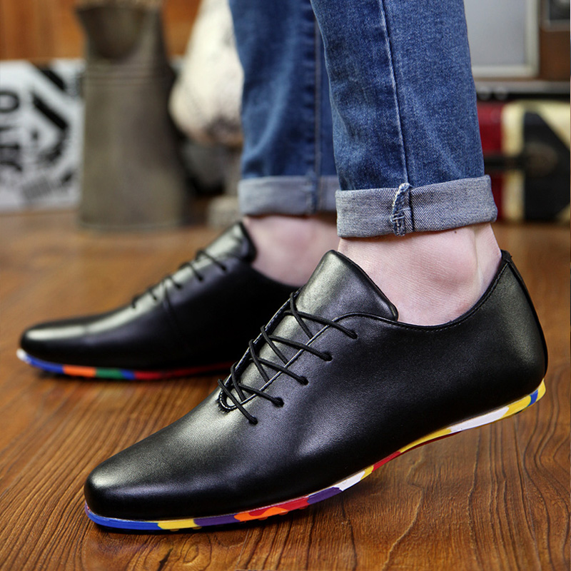 Ya xuan autumn new korean men's casual shoes trend of casual shoes tide shoes breathable men's dress shoes wild