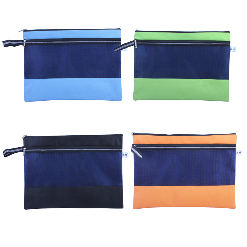Ya zi mesh paper bags a5 paper bag zipper bag document bag medicare oxford bags canvas bag kits