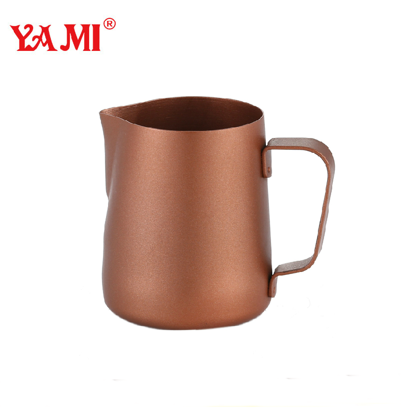 Yami cappucion fancy latte cup garland cylinder foam cylinder stainless steel teflon garland cup