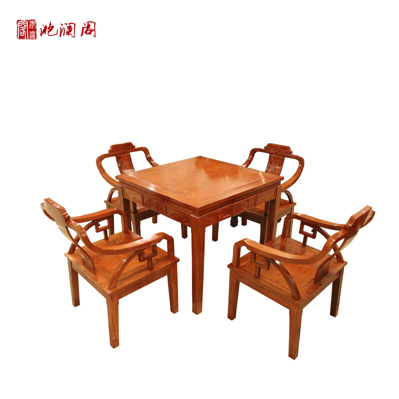 Yan lan club african rosewood mahogany wood small square table chinese leisure table/chess tables/mahjong table antique dining table