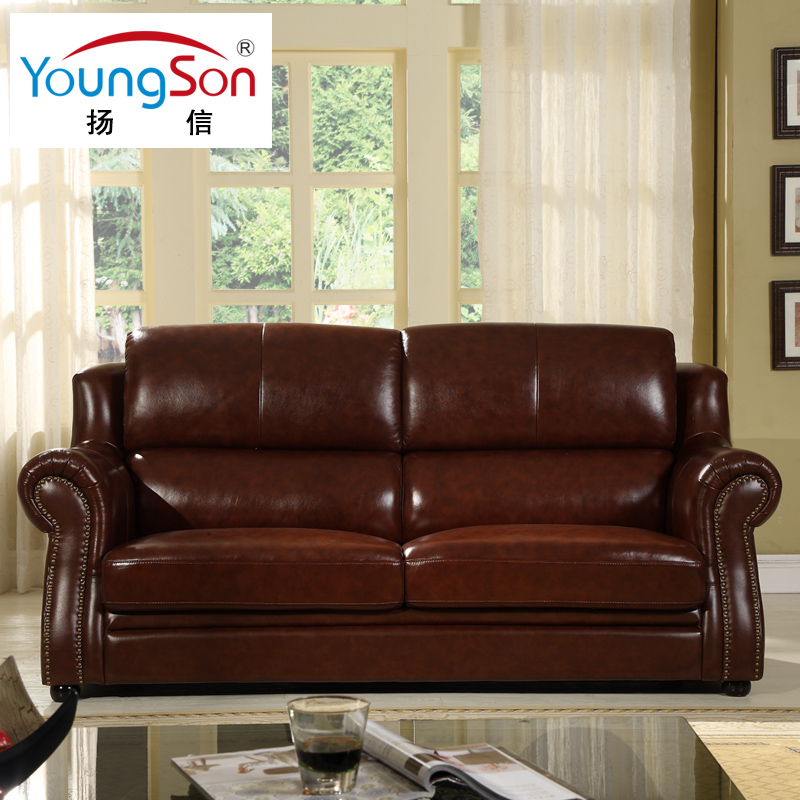 Yang letter 123 european leather sofa combination of american furniture leather sofa trio bit small apartment first layer of leather large