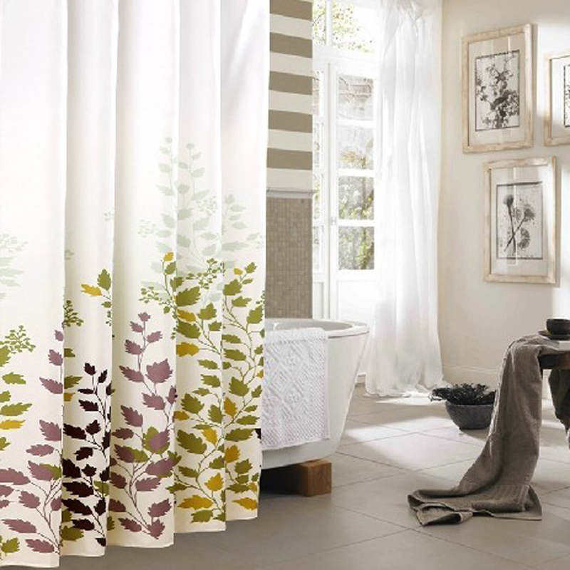 Yang yun free shipping thick waterproof polyester shower curtain mildew bathroom hotel bathroom shower curtain cloth curtain blackout curtains shower curtain free shipping