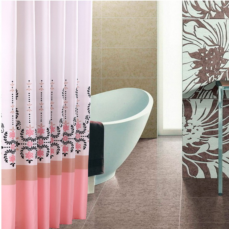 Yang yun genuine steadily high bathroom mildew thick waterproof polyester fabric shower curtain hooks to send heavier sinker