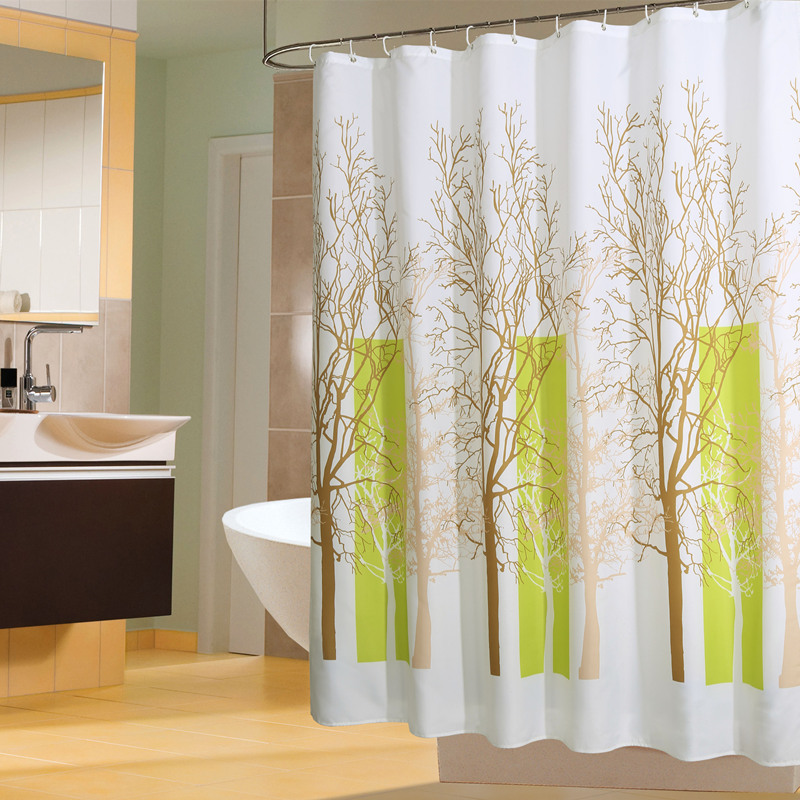 yang yun midi genuine cloud tree ikea bathroom shower curtain mildew thick waterproof polyester shower curtain