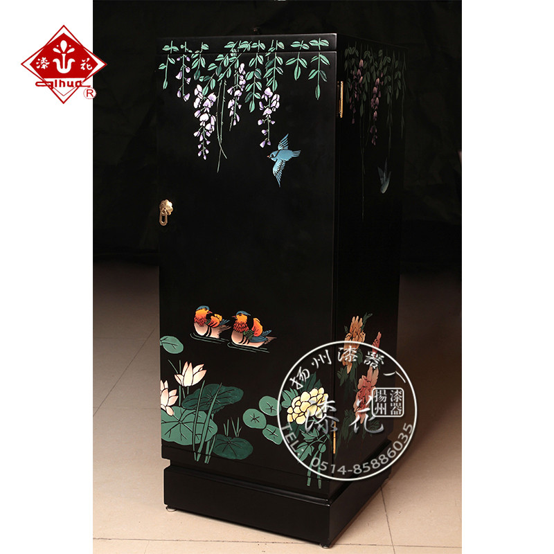Get Quotations · Yangzhou Lacquer Factory Paint Lacquer Furniture  Continental Carved Black Bird Cubic Ambry A Few To Spend