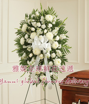 Yani international flowers and services of the united states喪nosegay wreath flower baskets sympathy gift order flowers luo Angeles nationwide delivery