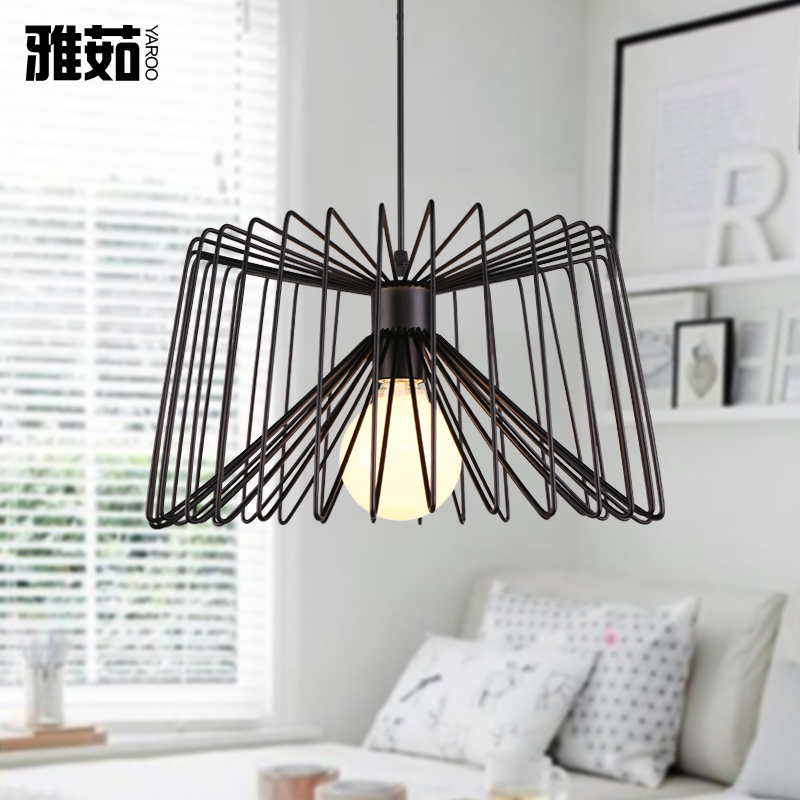 Yaru american industrial wind creative personality single head pendant lamp bar restaurant chandelier lamp living room lamps lighting