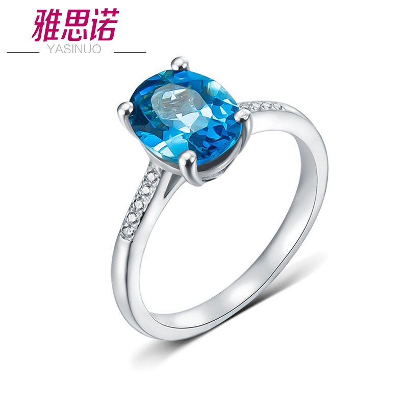 Yasi nuo natural topaz 925 silver rings female natural amethyst jewelry silver jewelry in europe and america temperament