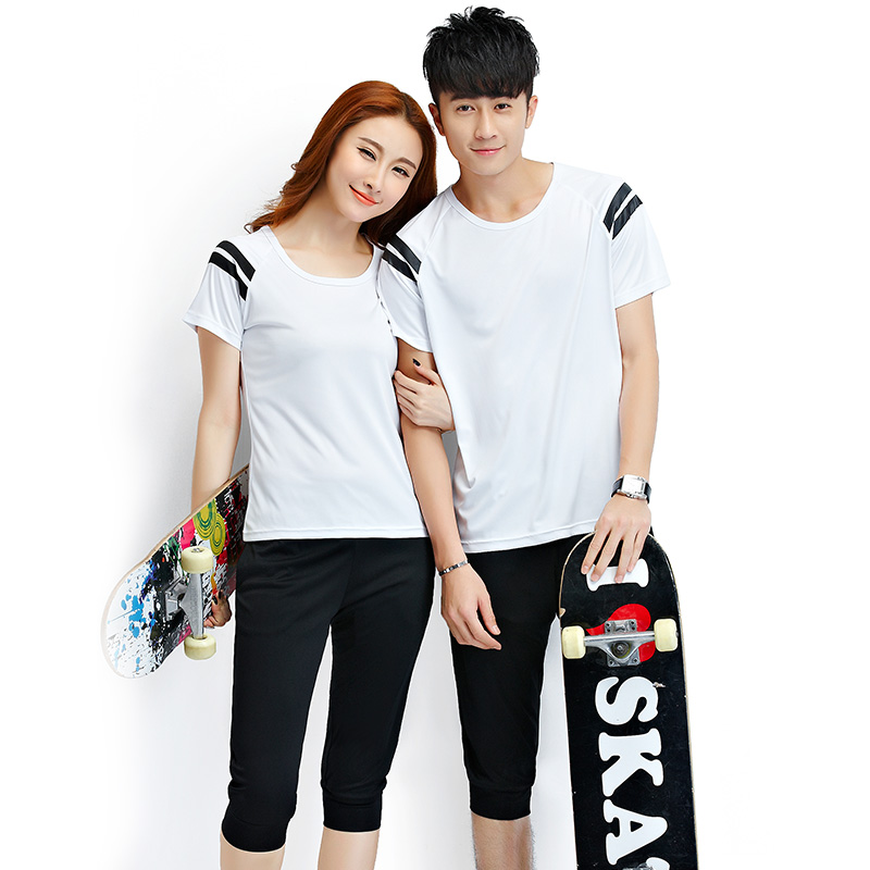 e6a77a95c9 Get Quotations · Yayan male couple sets summer 2016 new summer short sleeve  pant suit sportswear piece female