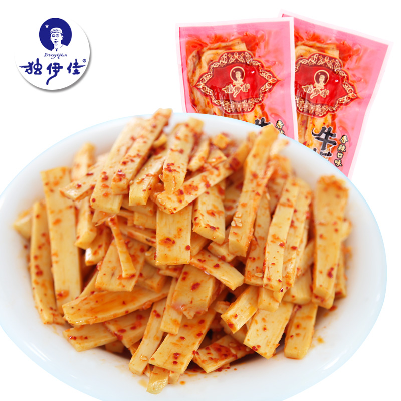 Yi jia alone specialty grasslands of inner mongolia chifeng halal spicy cattle ligament independent small vacuum packaging 500g