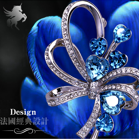 Yi mining suit korean jewelry bow brooch female quality crystal diamond flower brooch pin small