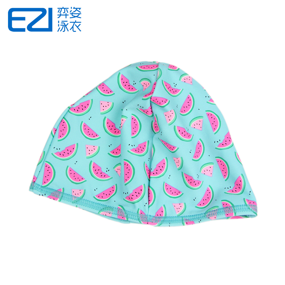 Yi pose new ezi watermelon printing swimming cap swimming cap cute korean children girls sun bathing cap 8200