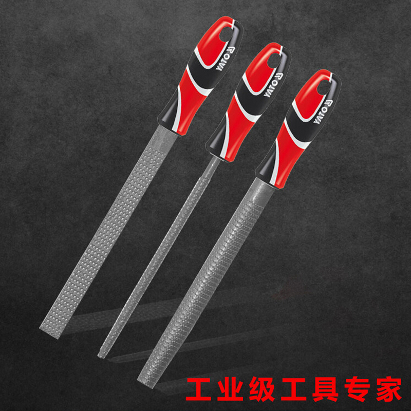 Yi seoul extension tool 250mm tricolor flat shank halfcircle YT-6219 woodworking rasp of single group set 6222