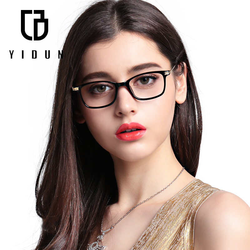 94c46a63f4 Get Quotations · Yi shield tr90 glasses frame metal frame glasses for men  and women light blu-ray
