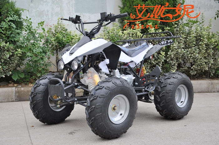 Yi sini 125 small kawasaki atv four motocross infinitely variable speed 8 inch four atv