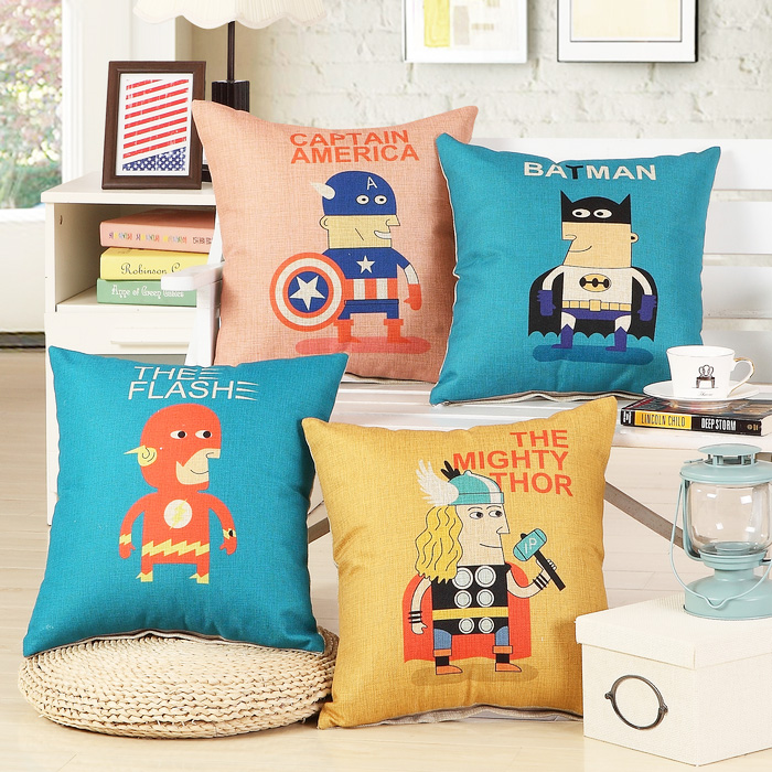 Yi xi sleep decorated cute cartoon printed cushions american super meng pattern pillow car back