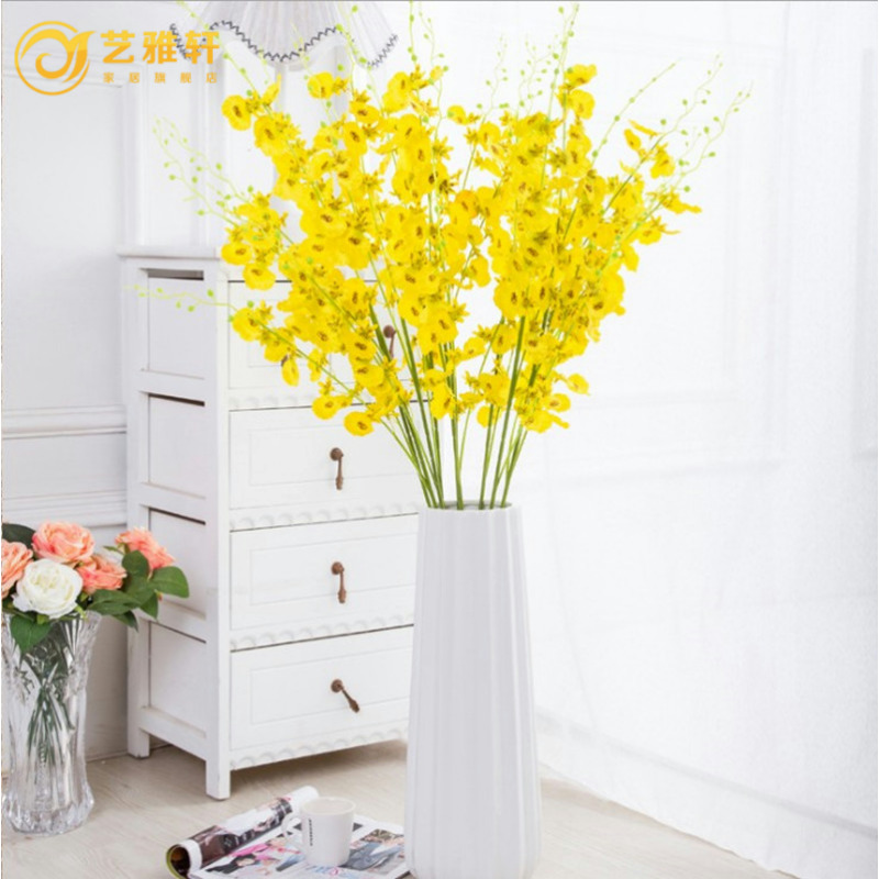 Yi ya xuan new high branch dancing orchid phalaenopsis simulation silk flower floral living room floor decorative flower single branch