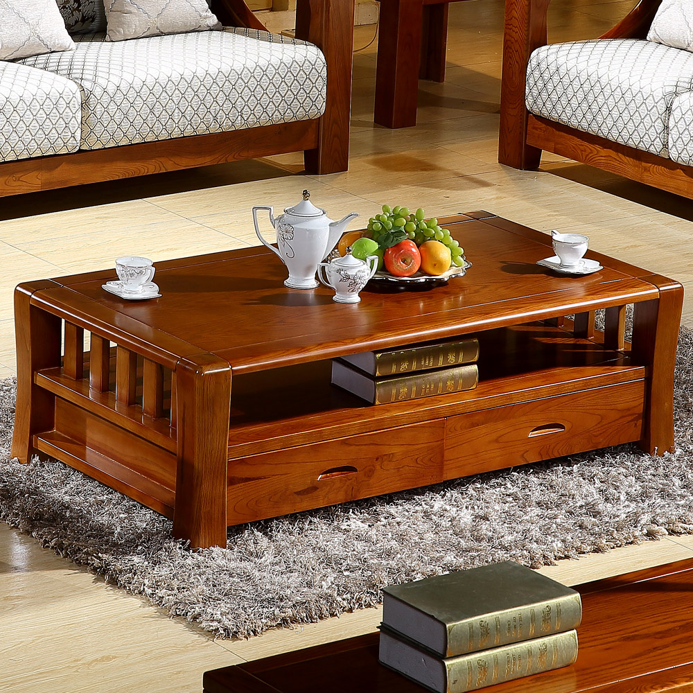 Yimei yue all solid wood coffee table ash wood coffee table coffee table full of small wooden tea table side a few l2
