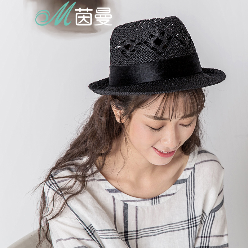 474525d319e Get Quotations · Yin man hollow design england cap hat visor hat female  summer sun hat sun hat beach