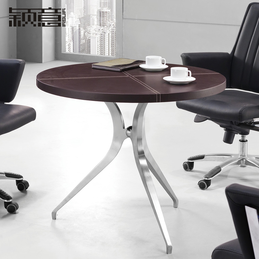 Ying italian office furniture desk furniture modern minimalist small table negotiating table small round table parlor tables t-27