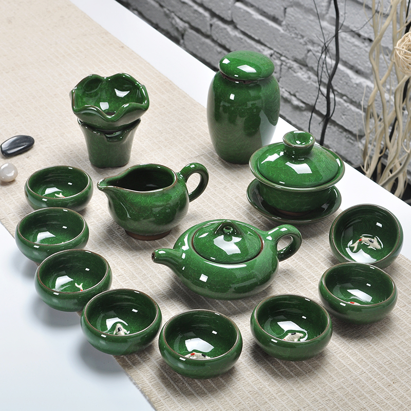 Ying xin ceramic binglie kung fu tea set ceramic tureen fair cup teapot tea cup tea strainers kit specials