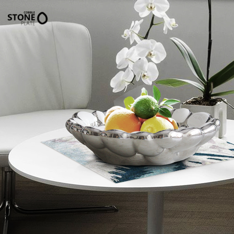 Yitai euclidian modern home creative fashion ceramic fruit plate dried fruit baskets parlor exhibition office coffee table ornaments ornaments