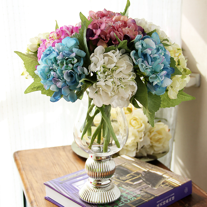 Yixuan baroque hydrangea artificial flowers artificial flowers suit the overall floral decoration flower silk flower