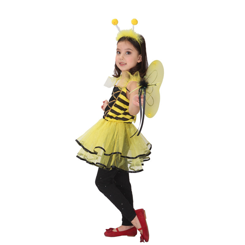 Yiyi little angel christmas halloween children's day performance props small bee playing performance clothing