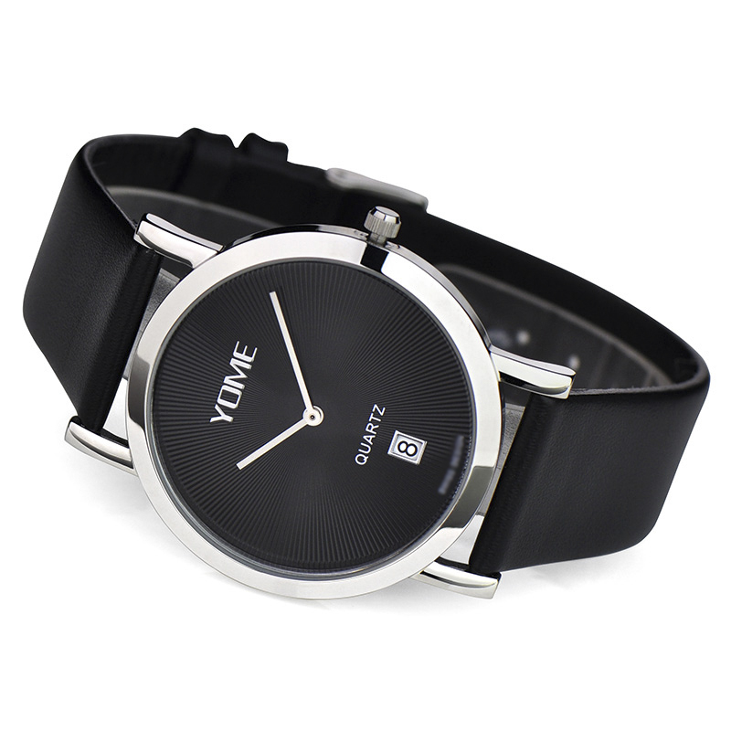 Yome positive brand men's watches couple models minimalist fashion korean version of the ultra thin quartz watch really belt watch