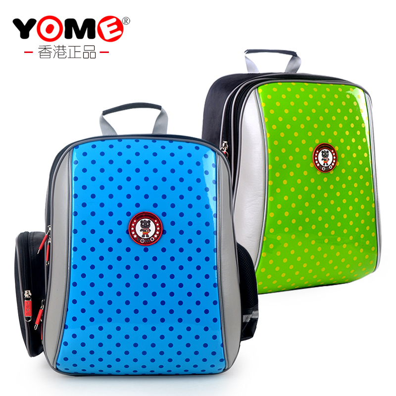 Yome schoolbag boys and girls grades schoolbag first grade children's school bags spinal care korea photonics plastic 2 portable