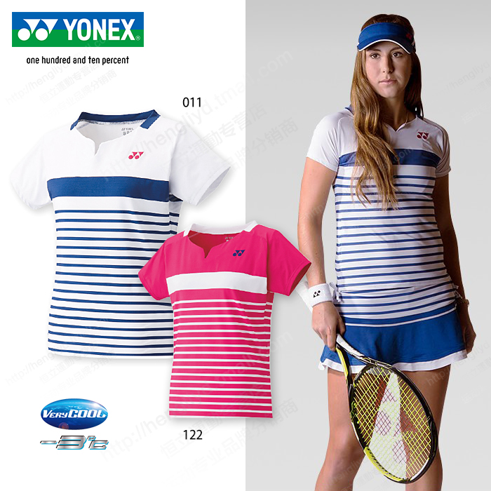Yonex yonex yy network/badminton clothing female summer sports shirt short sleeve t-shirt round neck short culottes 20244