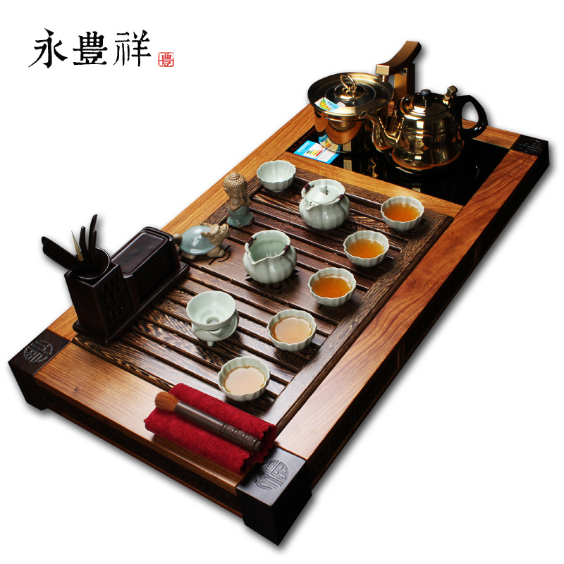 Yong xiang entire opening film ru ru kung fu tea tea sets rosewood four cooker tea sets tea sea suit