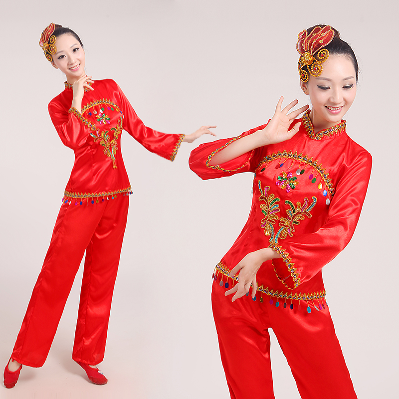Younger clothing 2016 new drum dance clothing square dance ethnic dance costume stage fan dance in the elderly people in spring and summer