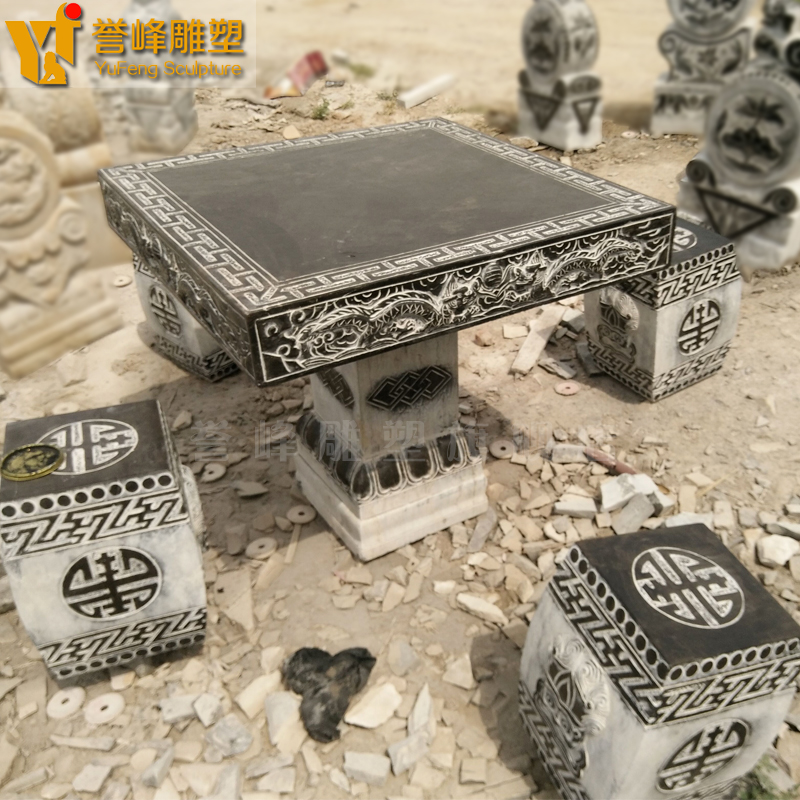[Yu feng sculpture] dragons carved antique to do the old bluestone danzhuoshideng danzhuoshideng stone can be customized