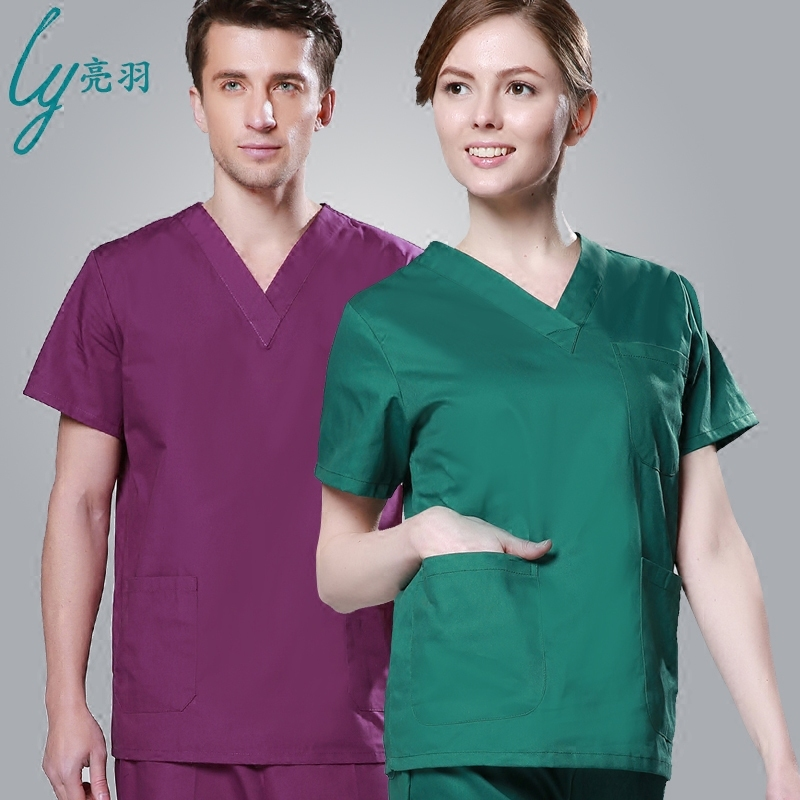 Yu liang handwashing clothes short sleeve for men and women long sleeve cotton gowns doctor operating room gowns hand clothes brush hand