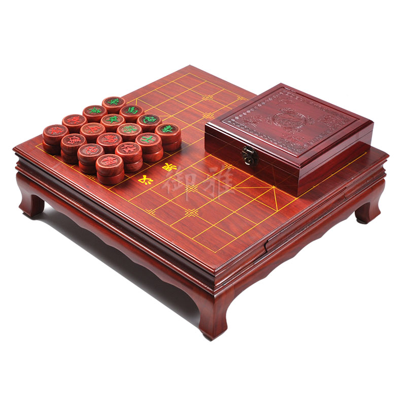 Yu ya saffron pear wood chess pier chess tables with drawers wooden chinese chess set chess with chess box