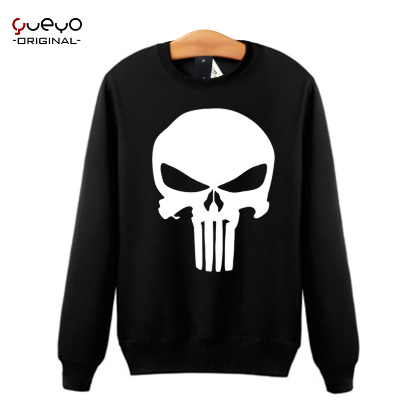 Yueyo/wyatt tour punisher 2 autumn sweater coat animation around clothes for men and diffuse viagra cranial skeleton head Printing